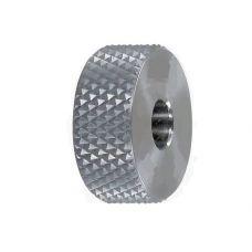 Ролик для накатки сетчатого рифления CNIC 00054630 20х9х8 мм шаг 1 мм угол 70 градусов левый 00054630