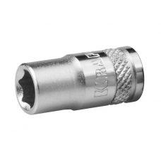 Головка торцевая размером 13 мм 6 граней привод 1/4 дюйма FLANK KRAFTOOL