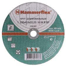 Круг абразивный зачистной 230х6х22 мм A 24 R BF 232-007 HAMMER с77943