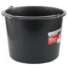 Ведро пластмассовое 20 литров черное строительное усиленное MATRIX 81439