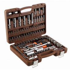 Набор инструмента 108 предметов 1/2, 1/4, 3/8 дюйма размер 4-32 мм 6 граней OMBRA OMT108S