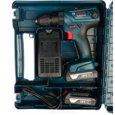 Аккумуляторная дрель-шуруповерт BOSCH БОШ GSB 180-LI емкость 2 х 1,5 Ач зарядное устройство 06019F8320