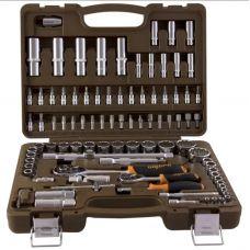 Набор инструмента головок 94 предметов посадка 1/2, 1/4 дюйма размер 4-32 мм 6 граней OMBRA OMT94S