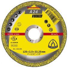 Круг абразивный отрезной 125х2,5х22 мм EXTRA KRONENFLEX по металлу нержавеющая сталь 309707/328771