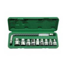 Набор инструмента  10 предметов 1/2 дюйма размер 10-24 мм 38-10 ТЕХМАШ