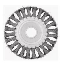 Щетка дисковая 125х22 мм плетеная нержавеющая сталь