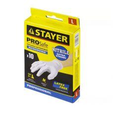 Перчатки нитриловые экстратонкие STAYER PROFI S 10 шт 5 пар 11204-S
