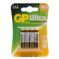 Батарейки GP 497749/18489 тип AAA мизинчиковые 24А LR03/286 упаковка 4 шт 497749/18489