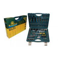 Набор инструмента  94 предметов 1/2, 1/4 дюйма размер 4-32 мм 6 граней KINGTUL КТР94