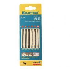 Пилки по дереву для ручного лобзика KRAFTOOL 15348-Н20 длина 130 мм спиральные упаковка 20 шт 15348-Н20