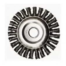 Щетка дисковая 200х22 мм плетеная сталь Гефест