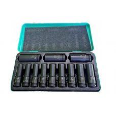 Набор инструмента 12 предметов 1/2 дюйма 6 граней размер 10-24 мм ударных глубоких головок STELS 13998