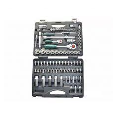 Набор инструмента головок 94 предметов 1/2, 1/4 дюйма размер 4-32 мм 6 граней универсальный FORCE 4941R-5