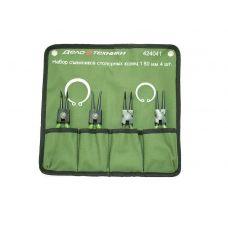 Набор съемников стопорных колец 4 предмета длиной 180 мм тетроновая сумка ДТ 424041
