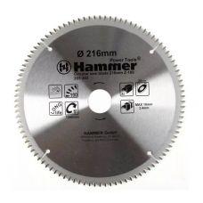 Пила диск 216х30х100Т твердосплавные пластины алюминий HAMMER