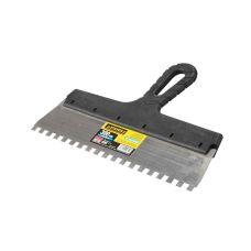 Шпатель зубчатый стальной ширина 300 мм зуб 8 мм пластмассовая ручка STAYER 1009-30-08