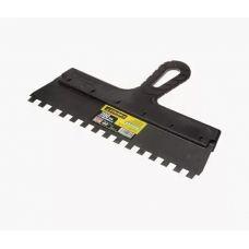 Шпатель сталь зуб 10 мм 300 мм пластмассовая ручка STAYER 1009-30-10