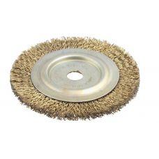Щетка дисковая 200х22 мм латунь Гефест