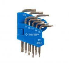 Ключи TORX комплект 8 шт Т5-Т20 ЗУБР ЭКСПЕРТ МИНИ для точных работ 27477-H8