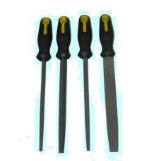 Набор напильников 4 шт длина 200 мм №2 с обрезиненной ручкой B9 CNIC 32416