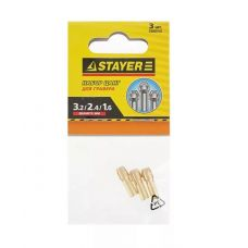 Набор цанг STAYER для электрогравера под хвостовик диаметр 3,2 мм, 2,4 мм, 1,6 мм 29909-Н3