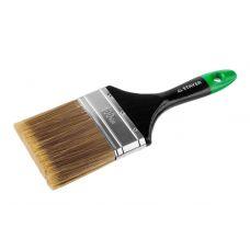 Кисть плоская 100 мм 4 дюйма деревянная ручка искусственная щетина STAYER 0106-100