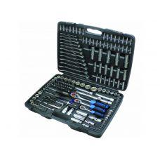 Набор инструмента 215 предметов 1/2, 3/8, 1/4 дюйма 6 граней FORSAGE 42152-5 FORSAGE
