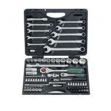 Набор инструмента  82 предметов 1/2, 1/4 дюйма размер 4-32 мм 12 граней ключи FORCE 4821R-9