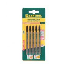 Пилки для электрического лобзика KRAFTOOL 159511-2,5 дерево T101B Cr-V шаг 2,5 мм, 75 мм упаковка 2 159511-2,5
