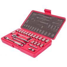 Набор инструмента головок 23 предмета 1/4 дюйма 6 граней в кейсе дюймовые JTC JTC-H223S