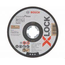 Круг абразивный отрезной 125х1,0х22 мм X-LOCK BOSCH БОШ по нержавейке 2608619262