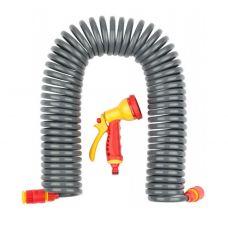 Набор поливочный шланг спиральный 3/8х15 м пистолет-распылитель адаптеры GRINDA PROline 428495