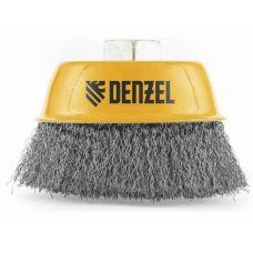 Щетка чашка DENZEL 746043 75 мм М14 витая нержавеющая проволока 0,3 мм 746043