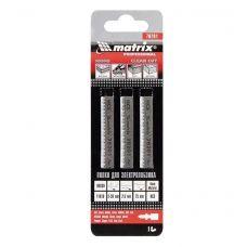 MATRIX 78201 Пилки по дереву для эл лобзика длина 75 мм шаг 2,5 мм НСS упаковка 3 шт 78201