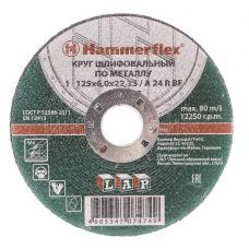 Круг абразивный зачистной 125х6х22 мм A24 R BF 232-017 HAMMER с86897