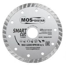 Диск алмазный 125х2,2х7х22,23 мм Turbo Smart Cut MOS-DISTAR