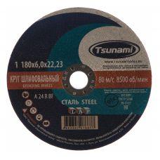 Круг абразивный зачистной 180х6х22 мм 24А R BF L TSUNAMI D16110018062300