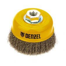 Щетка чашка DENZEL 746053 100 мм М14 витая нержавеющая сталь 746053