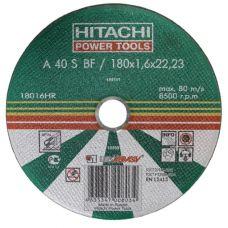 Круг абразивный отрезной 180х2,5х22 мм 24А HITACHI/HIKOKI  - ЛУГА по металлу 18025