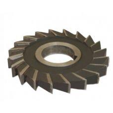 Фреза дисковая  80х10х27 мм z=14 сталь Р6М5 3-х сторонняя с разнонаправленным зубом