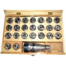 Патрон цанговый с хвостовиком КМ4 М16*2,0 ER40 с набором цанг из 23 штук (4-26) 31230