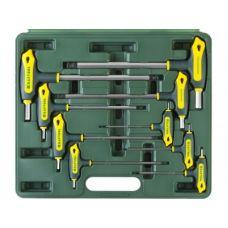 Ключи шестигранные комплект  9 шт 2-12 мм Т-образные с шаром в кейсе KRAFTOOL