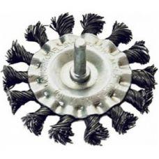 Щетка дисковая шпиль 100 мм плетеная сталь MATRIX