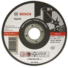 Круг абразивный отрезной 125х1,0х22 мм BOSCH БОШ по металлу 26086000549