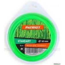Леска для триммера 1,6 мм х 15 м звезда зеленая PATRIOT