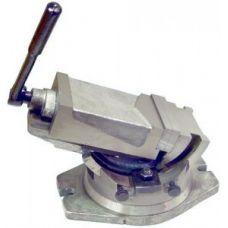 Тиски станочные глобусные 125 мм сталь поворотные ход 100 шкала градусы  закрытый винт Q41(QНК)125 28555