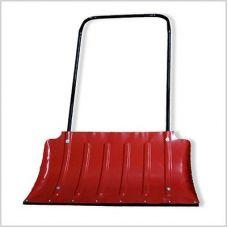 Движок для снега 750х430 мм сталь формованный красный с планкой Россия О0246