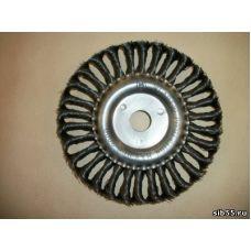 Щетка диск 175мм*22 плетеная сталь MATRIX