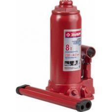 Домкрат гидравлический бутылочный грузоподъемность 8,0 тонны ЗУБР 43060-8