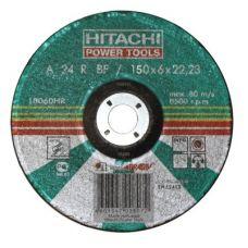 Круг абразивный зачистной 150х6х22 мм 24А HITACHI с25920